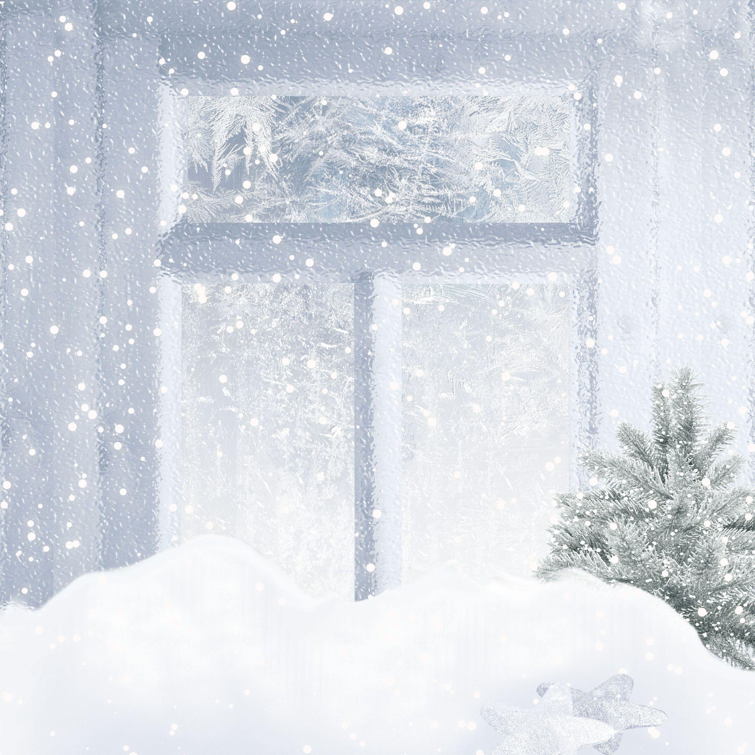 Большие зимние фоны