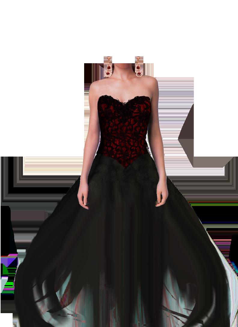 Женское современное платье для фотошопа
